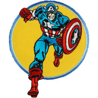 Captain America Men's Running Embroidered Patch Multi