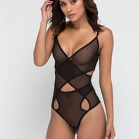 Bonding Time Sheer Cut-Out Bodysuit GoJane.com