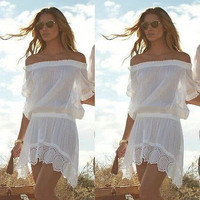 Bikini Lace Cover up Beach Dress