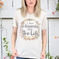 The Resurrection & The Life S/L Tee {Oatmeal}