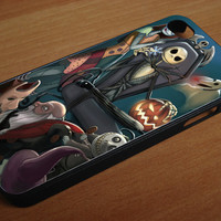 nightmare before christmas all character for iphone 4/4s, iPhone 5/5c/5s.Samsung galaxy S3,S4,S5 , color Black and White