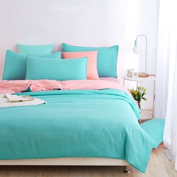 New Style Minimalist Soft and Comfortable Bedding Set Bed Sheet and Duver Quilt Cover Pillowcase  King Queen Full Twin