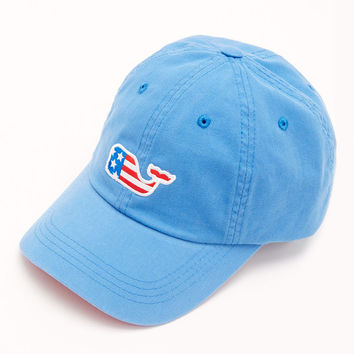 Vineyard Vines Flag Whale Patch Baseball Hat