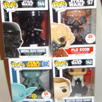 Four Star Wars Funko Pop Yoda Spirit Plo Koon Orson Krennick Death Trooper
