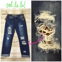Leopard boyfriend jean from PeaceLove&Jewels