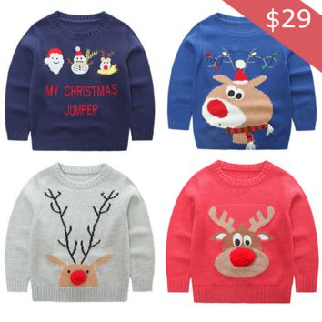 Children's Cute Ugly Holiday Sweaters
