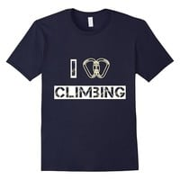 I Love Climbing- Cool T-Shirt for Rock Climbers