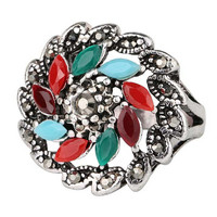 New Hot Women Vintage Retro Old Silver Ring Womens Fashion Casual Jewelry Unique Best Gift Rings-25
