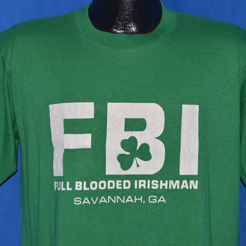 80s F.B.I. Full Blooded Irish Savannah GA t-shirt Large