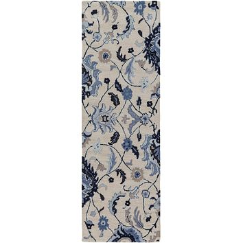 Surya Centennial CNT1096 Black/Blue Medallion and Damask Area Rug