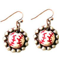 Baseball Earrings-Sookie Sookie