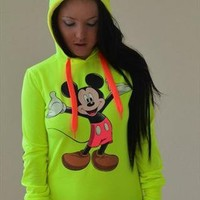 NEON hoodie  with ears from bellamia