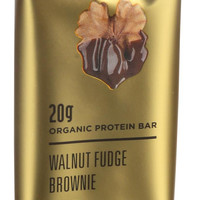 22 Days Nutrition Organic Protein Bar - Walnut Fudge Brownie - Case Of 12 - 2.6 Oz Bars