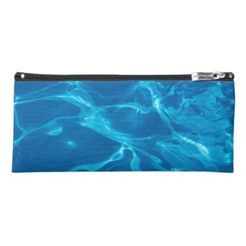 Blue water pencil case