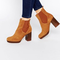New Look Premium Real Suede Block Heeled Chelsea Boot