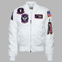 Vandy-1 Alpha Bomber Jacket - White