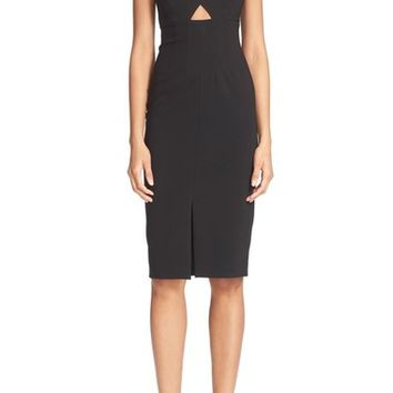 Alice + Olivia 'Dash' V-Neck Midi Dress | Nordstrom