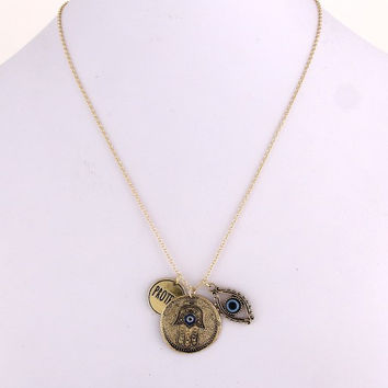 Protect Hamsa Necklace - Gold or Silver