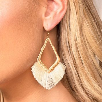 Mabel Ivory Tassel Earrings
