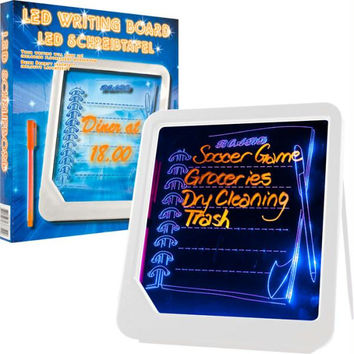 Trademark Home  LED Writing Menu Message Board - White