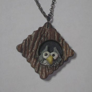 Owl pendant polymer clay