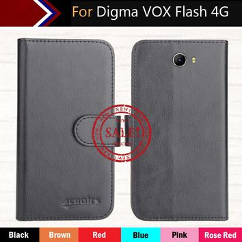 """Digma VOX Flash 4G Case 5"""" 6 Colors Dedicated Leather Exclusive 100% Special Phone Cover Crazy Horse Cases+Tracking"""
