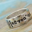 Adventure Ring, Fine Silver Word Jewelry, Not All Who Wander Are Lost Ring, World Traveler Gift, Use coupon code WANELO for 10% off!