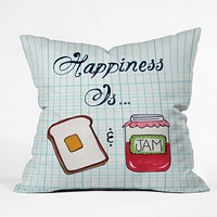 Heather Dutton Happiness Is Toast And Jam Throw Pillow