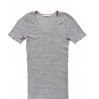 The Perfect Tee - Heather Grey | AG Jeans Official Store