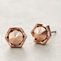 Starburst Studs by Anthropologie Rose Gold One Size Earrings