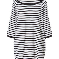 OVERSIZE BOAT NECK STRIPED SWEATER - Knitwear - Woman - ZARA United States