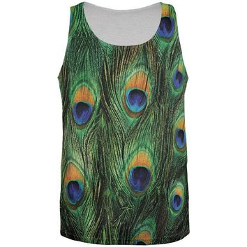 DCCKJY1 Peacock Feathers All Over Adult Tank Top