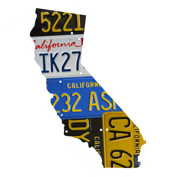California License Plate wall decal