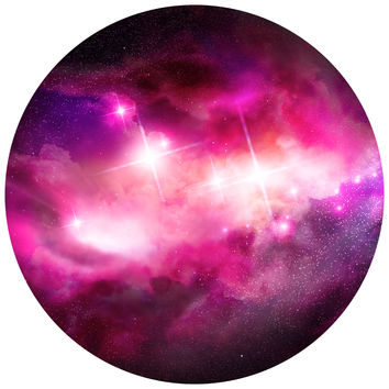 Space Clouds Circle Wall Decal