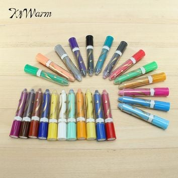 KiWarm Excellent 12/24 Colors Wax Crayon Pen With Gift Box Oil Painting Stick Pastel Crayons Pencils Set Drawing Art Stationery
