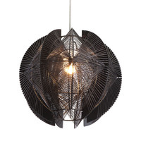 Centari Single Ceiling Lamp Black Black