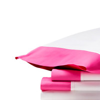 Kate Spade Grace Sheeting Sheet Set Shocking Pink