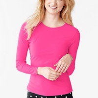 Women's Swim Tee Rash Guard - Neon Solid from Lands' End