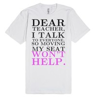 Dear teacher tee t shirt-Unisex White T-Shirt