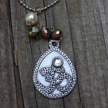 Om rear view mirror charm, spiritual icon, jewelry for your car, yoga, Namaste, car accessory