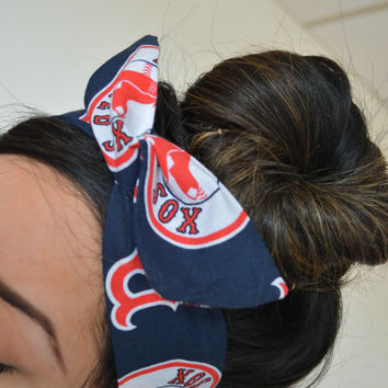 Boston Red Sox, headband, Dolly bow head bands, head band, hair bow