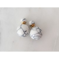 Double Marble Studs