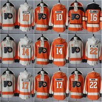 10 Brayden Schenn 14 Sean Couturier 16 Bobby Clarke 17 Wayne Simmonds 22 Luke Schenn Philadelphia Flyers Authentic Hockey Jersey Hoodie