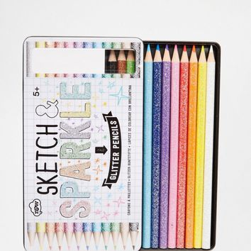 Sketch & Sparkle Glitter Coloring Pencils - We Love Glitter!