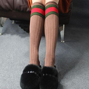 LMFIH3 Autumn and winter tube socks College lettering cotton knit cotton socks