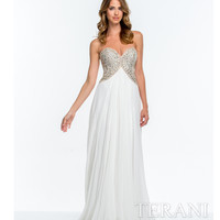 Terani 151P0026 Ivory & Nude Sweetheart A-line Gown 2015 Prom Dresses