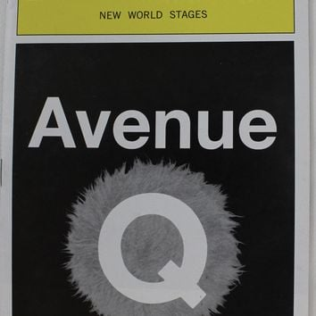 Avenue Q Playbill