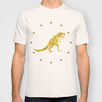 Golden T.Rex Pattern T-shirt by Chobopop