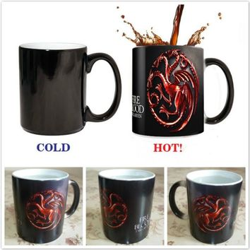 Coffee Mug Creative Game of Thrones Targaryen Changing Color Mug Home Kitchen Tableware (Size: Mug)