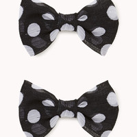 Polka Dot Bow Hair Clips